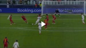 گل اول فرانسه به بلژیک توسط بنزما
