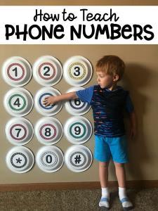آموزش شماره های ضروری به کودکان