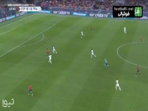 گل اول اسپانیا به فرانسه