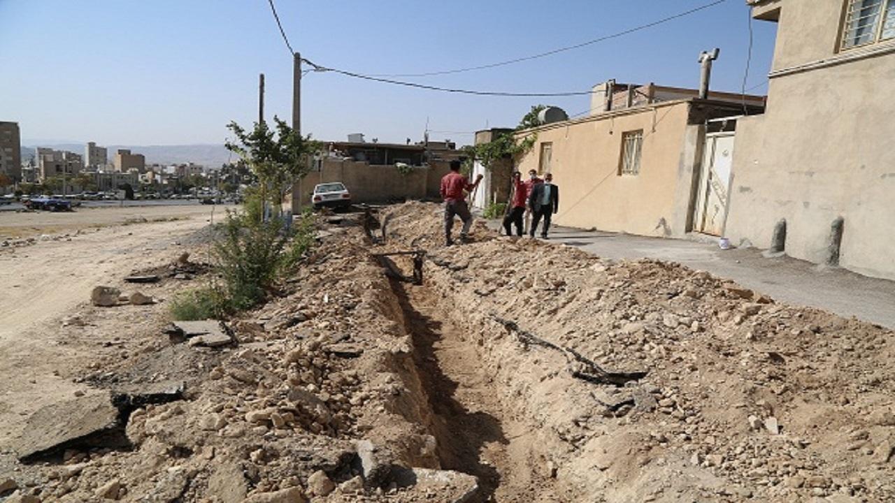 توسعه ۱۵۰ متر شبکه آب در شهر ایلام