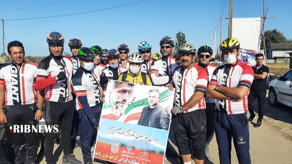 دوچرخهسوار اردبیلی پیام قدردانی مردان دیار سبلان را به حسن یزدانی اعلام کرد
