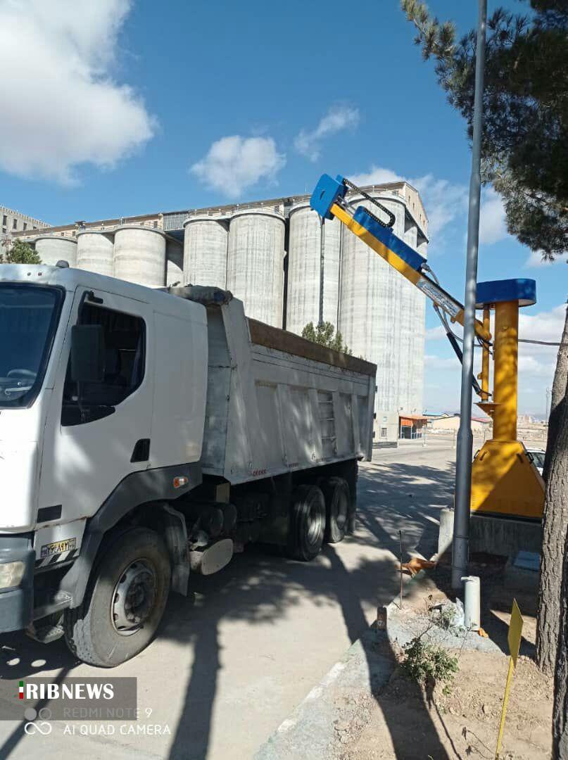 نصب دستگاه نمونهبردار اتوماتیک گندم در خراسان شمالی