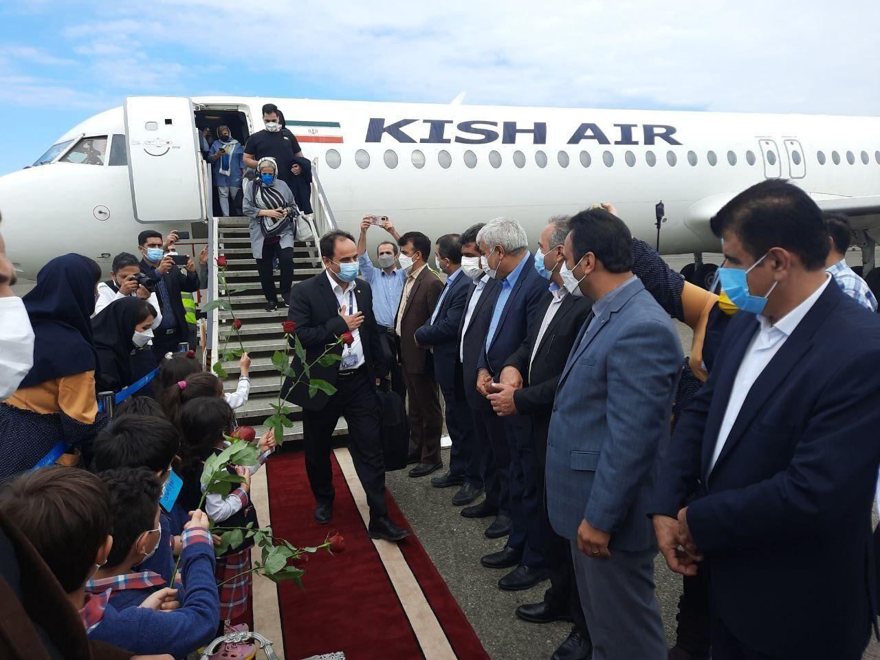 خط پروازی کیش-نوشهر فعال شد