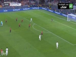 گل دوم فرانسه به اسپانیا توسط امباپه