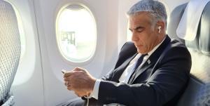 لاپید در راه واشنگتن برای بحث درباره ایران
