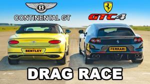 درگ کوپههای سنگینوزن! فراری GTC4Lusso و بنتلی کانتیننتال GT