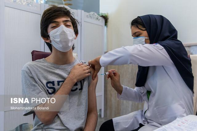واکسیناسیون سنین ۱۲ تا ۱۸ سال در گلستان رشد خوبی دارد