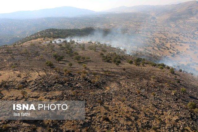 مهار آتشسوزی جنگلهای ارتفاعات منطقه گناوه لری گچساران