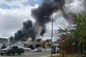 سقوط هواپیما در کالیفرنیا آمریکا