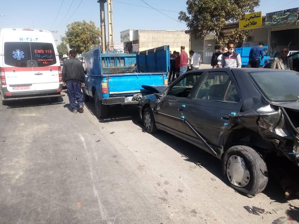لغزندگی جاده موجب تصادف زنجیرهای در همدان شد