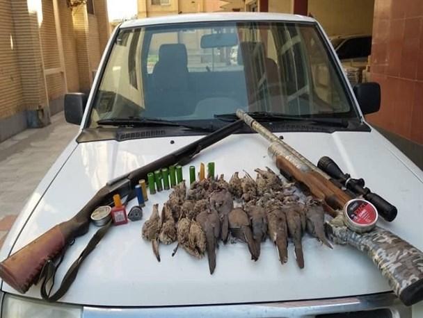 شکارچیان پرنده در دام محیطبانان سیستان
