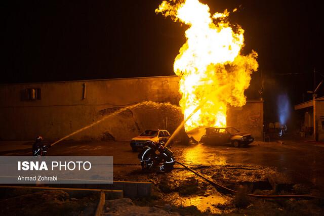 آتشسوزی کارگاه تراشکاری در قزوین یک مصدوم برجای گذاشت