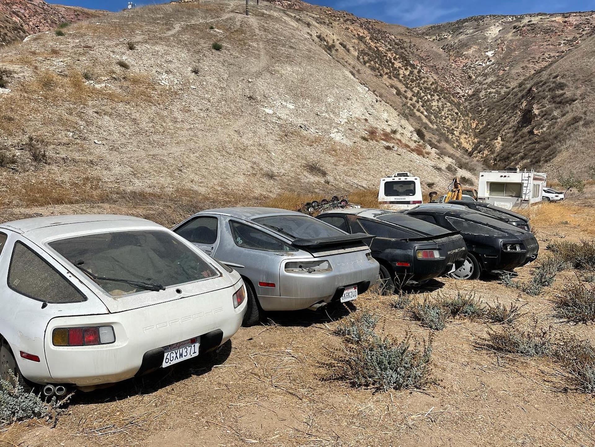 زمینی با 13 «پورشه 928» متروکه در کالیفرنیا کشف شد!