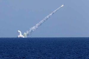 روسیه در دریای خزر موشک کروز «کالیبر» شلیک کرد