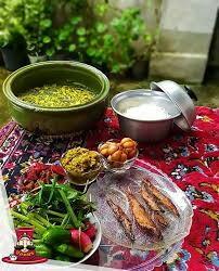 بفرماید شام باقلاقاتوق با کولی ماهی شور غذای رشتی با هفته بیجار