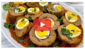 آموزش تهیه کوفته نرگسی توسط سرآشپز افغانستانی