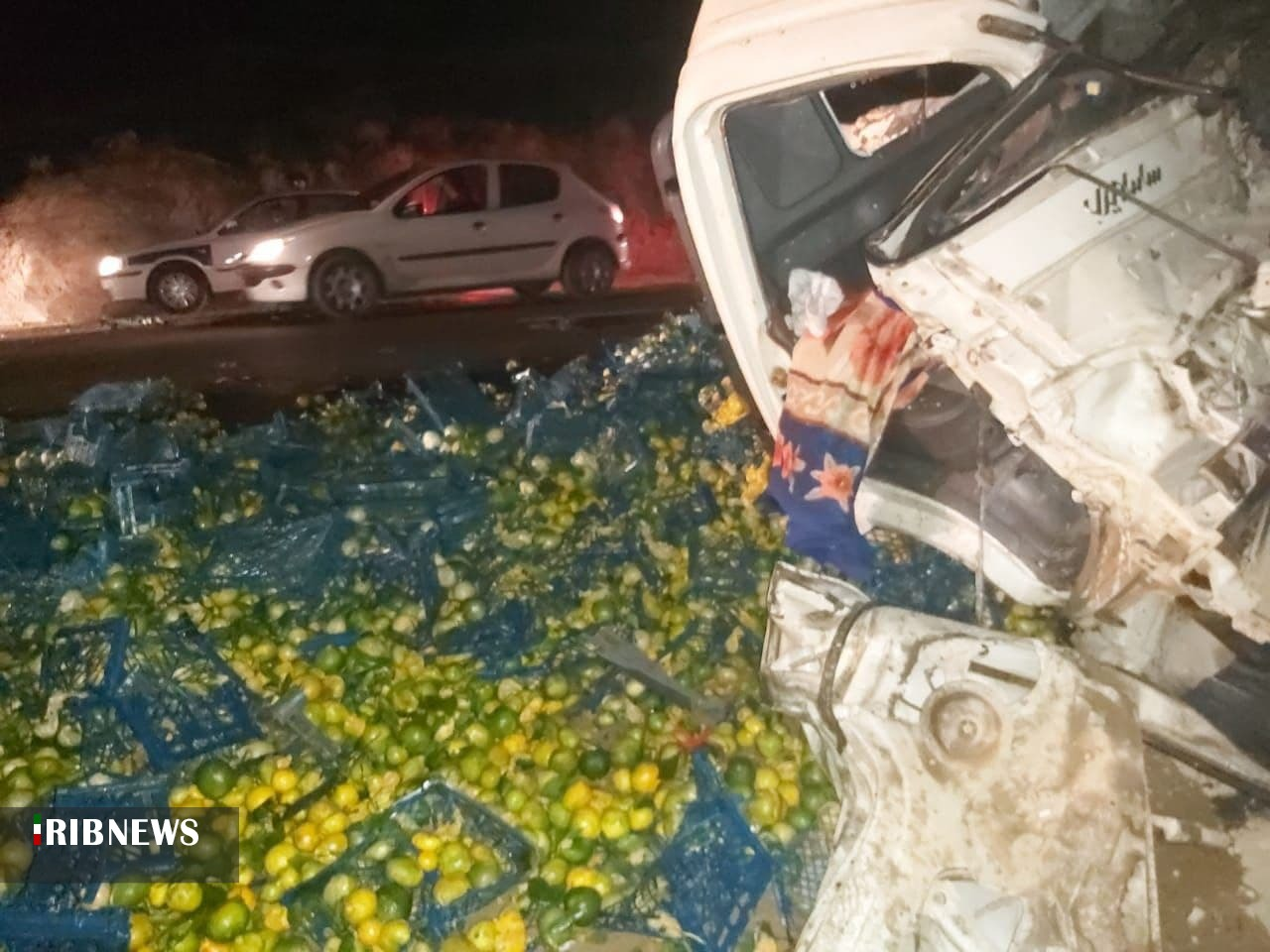 تصادف خودروهای سنگین در سمنان با ۲ کشته داشت