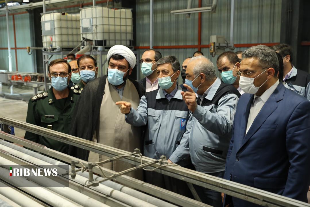 بهرهبرداری از خط تولید سرامیکهای پرسلان پولیش در ساوه
