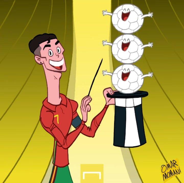 کاریکاتور/ شعبده بازی جدید کریستیانو رونالدو!