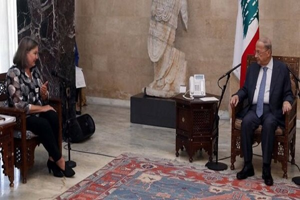 دیدار معاون بلینکن با رئیس جمهور لبنان