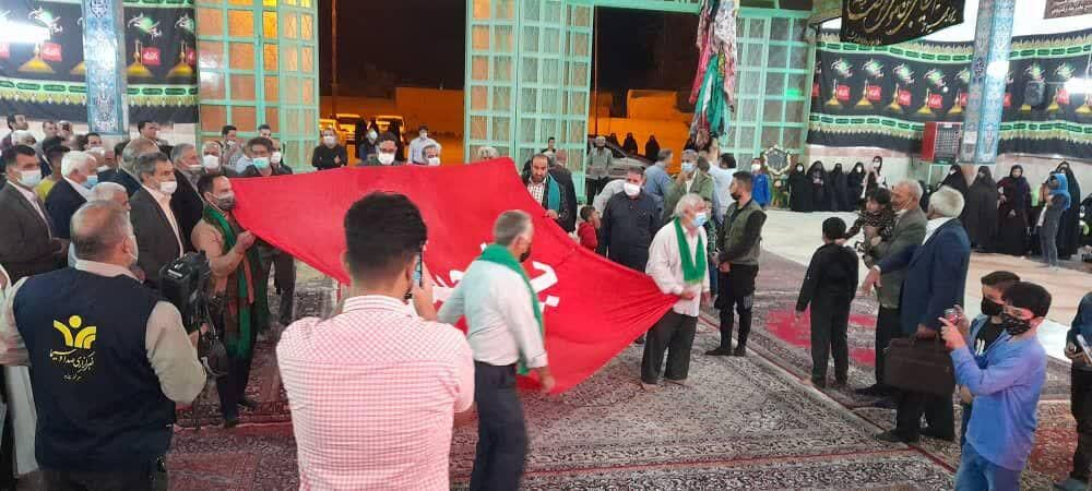 آیین سنتی «عَلَم واچینی» در مهریز برگزار شد