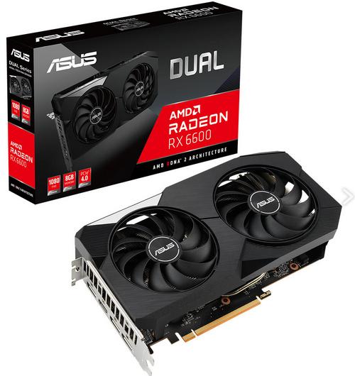 ایسوس از کارت گرافیک Dual Radeon RX 6600 رونمایی کرد