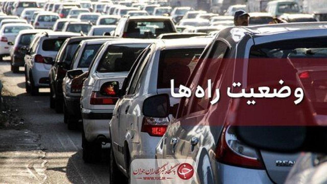 ترافیک نیمه سنگین در بیشتر نقاط مسیر شمال