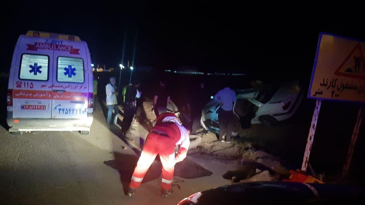 واژگونی خودروی پژو پارس در مشگینشهر ۲ قربانی گرفت
