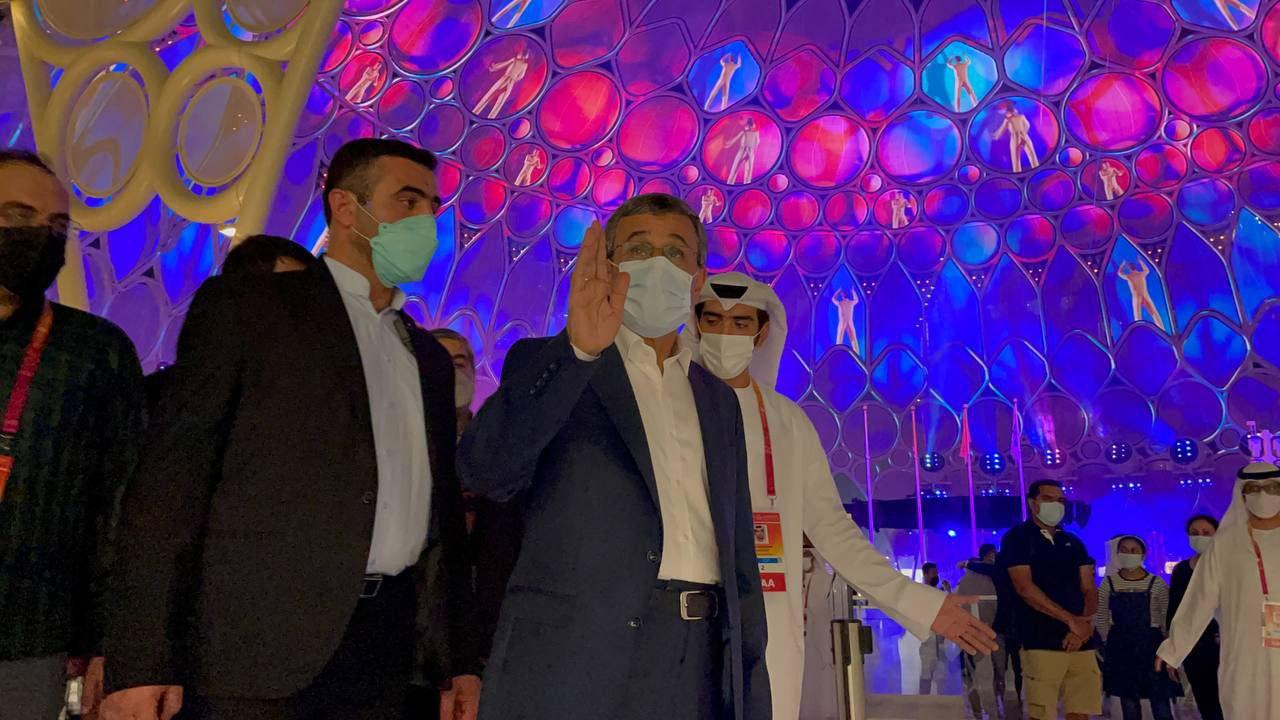 عکس/ حضور احمدینژاد در نمایشگاه اکسپو ۲۰۲۰ دبی