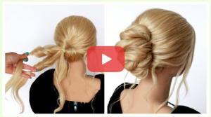 آموزش شنیون موها با روشی ساده و زیبا