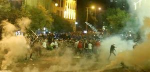 ویدیو راشاتودی از درگیری های شدید در مرکز بیروت