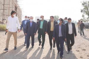 بازدید اعضای فراکسیون گردشگری مجلس از روند ساخت موزه منطقهای خوزستان