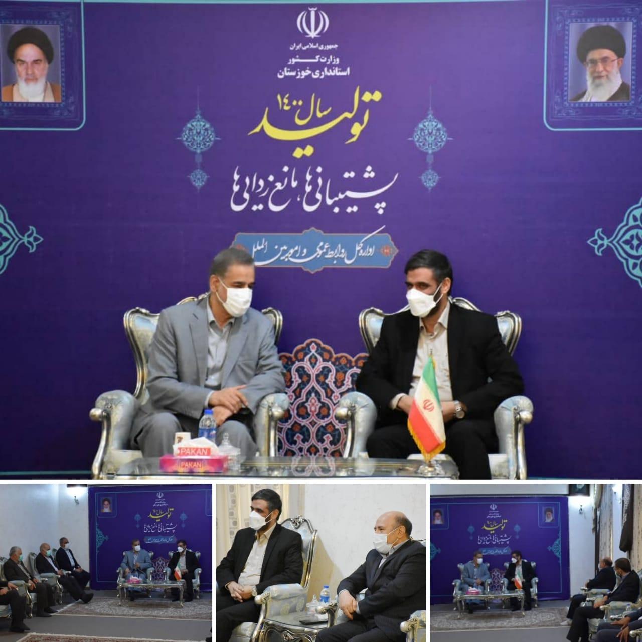 ورود دبیر شورای عالی مناطق آزاد به خوزستان