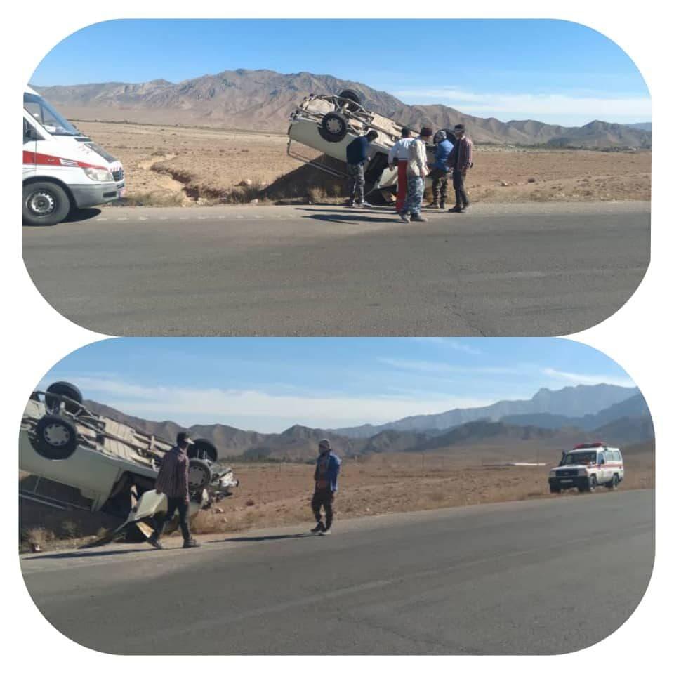 واژگونی خودروها در سمنان ۶ مصدوم برجای گذاشت