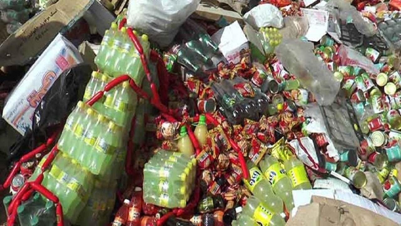 معدوم سازی بیش از ۲ تن مواد غذایی غیر قابل مصرف در زاهدان