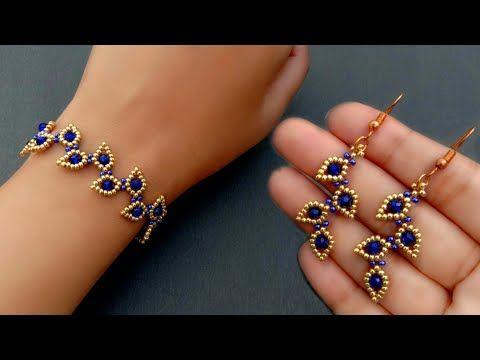 ترفند ساختن دستبند و گوشواره مرواریدی