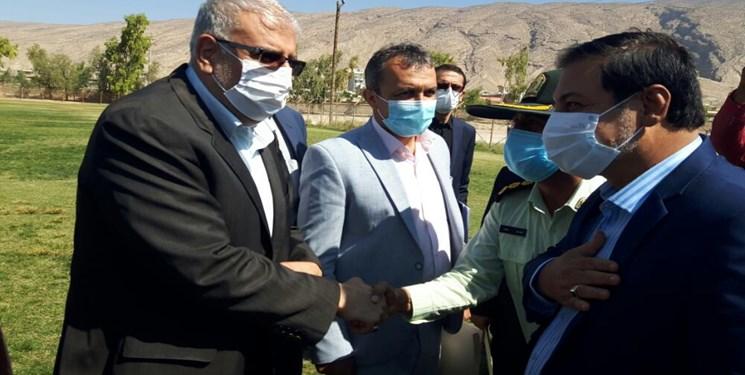 بازدید هوایی وزیر نفت از پتروشیمی فیروزآباد