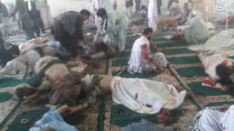 عکس/ تصاویری دردناک از انفجار در مسجد شیعیان افغانستان
