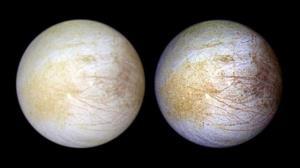 تنها یک نیمکره قمر سیاره مشتری بخار آب دارد!