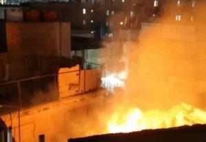 وقوع آتشسوزی در کربلا