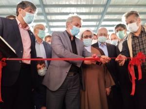 افتتاح واحد تولید الیاف پلیاستر دلیجان با حضور وزیر صمت