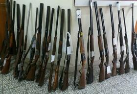 کشف ۳۳۰ قبضه سلاح غیرمجاز در گچساران