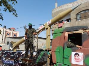 آزمایش موشکی مقاومت فلسطین در غزه