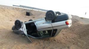 واژگونی خودروی پراید حادثهساز شد