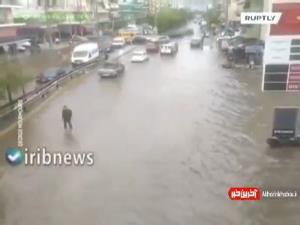 سیل در خیابانهای آتن