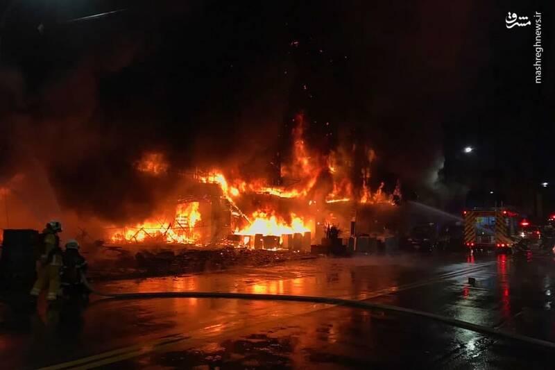 تصاویری از آتشسوزی مرگبار در تایوان
