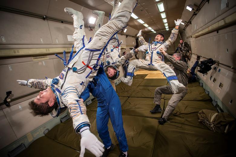 تمرین زندگی در فضای بدون گرانش!