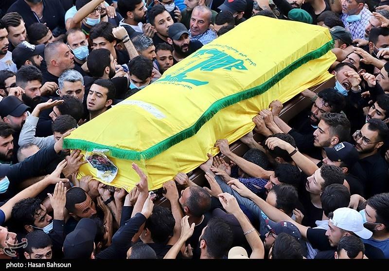 عکس/ تشییع شهدای حملات تروریستی بیروت