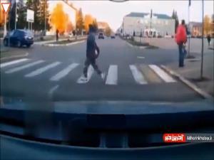 راه رفتن مصدوم پس از تصادف شدید!