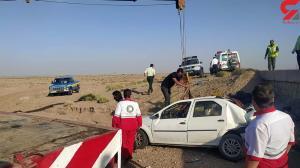یک کشته و ۲ مصدوم نتیجه  واژگونی ال نود در اردستان
